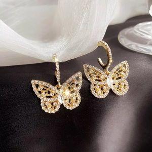 Gold Tone Butterflies Earrings